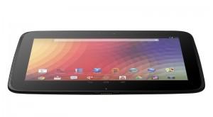 Google Nexus 10 vorne schräg