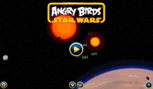 Angry Birds Star Wars Startbildschirm