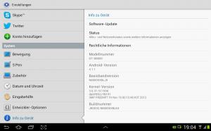 Auch in Österreich bekommt das Galaxy Note 10.1 Update