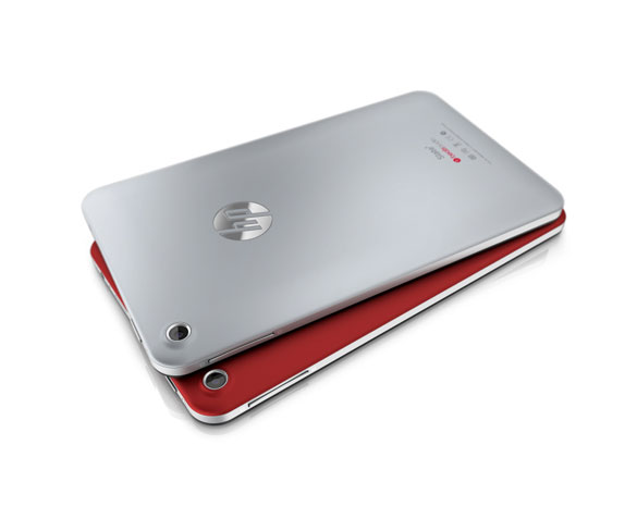 HP Slate 7 Tablets in Rot und Silber
