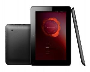 Ubuntu Tablet vorne, hinten und seitlich